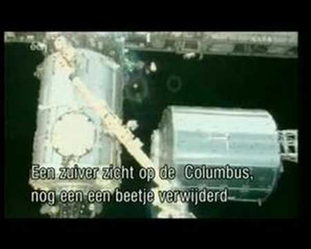 Columbus attached to ISS - interview of SpaceApps staff