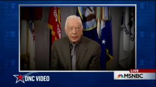 Jimmy Carter addresses the 2016 Democratic National Convention