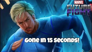 HOW TO DEFEAT QUICKSILVER IN 15 SECONDS !! | Marvel Future Fight