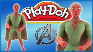 Play Doh The Avengers Vision: How To Make Marvel Avengers Vision Play Dough