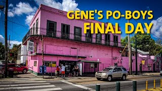 Gene's Po-Boys in New Orleans Final Day of Business