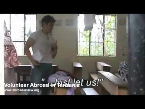 Volunteer working at a School in Tanzania Abroaderview Part 1
