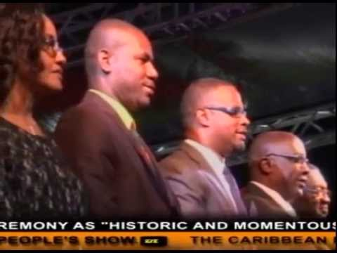 New St.Kitts-Nevis Cabinet Sworn -ZIZ News Cast 23rd Fed 2015