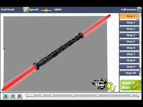 Darth Maul Lightsaber Drawing How to Draw Darth Maul's
