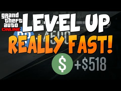 GTA 5 Online: - How to Rank up Fast!