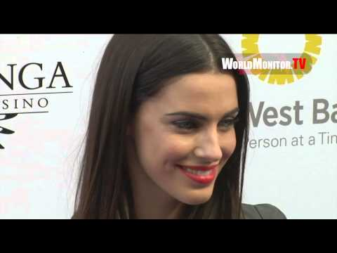 90210 Jessica Lowndes sizzling hot arrives at Lakers Casino Night 2013
