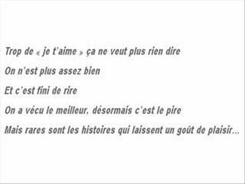 Favori Paroles La Séparation - Vieilles Valises (Les) VJ73