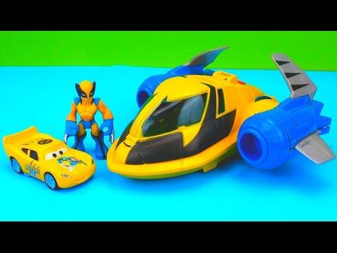 Wolverine Car McQueen & Wolverine take down Imaginext Two Face Playskool custom
