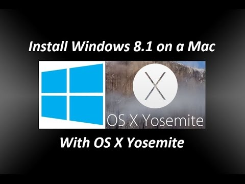 Install Windows 8.1 on a Mac running OS X Yosemite