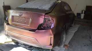 Color Shift Plasti Dip on Imperial Dips shop car! (scion TC)