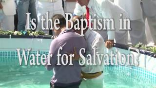 Is the Baptism in Water Required for Salvation? - One Minute Truths