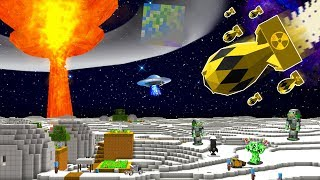 I BLEW UP THE MOON WITH NUKES in MINECRAFT!