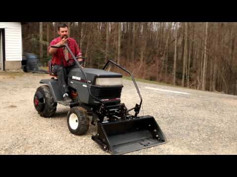 Lawn Tractor Front Scoop Review. And Demonstration.