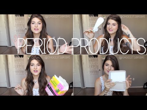 my favorite period products! ✿ tampons. pads. etc.