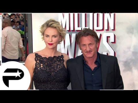 Avant-première: Charlize Theron et Sean Penn pour Albert à l'Ouest