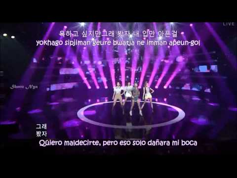 *~after School - Red In The Night Sky Live Sub Esp (rom + Hangul)~* video
