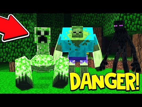 WORLD'S MOST DANGEROUS MINECRAFT MOBS! (Minecraft PE MODS)