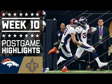 Broncos Vs Saints Nfl Week 10 Game Highlights