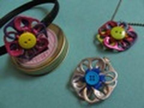 Reciclaje: Collar + Dije de Flor MULTIUSOS //Colección ECO-CHIC//