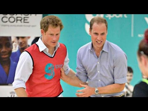 Prince William and Harry get competitive in five-a-side football match in Glasgow