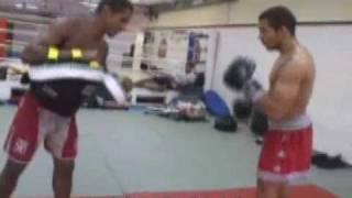 Jose Aldo showing off his Muay Thai Skills