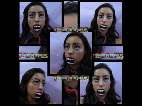 Maquillaje de fantasia DUMMIE (muneco de ventrilocuo)
