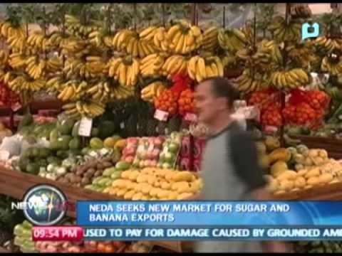NEDA seeks new market for sugar and banana exports