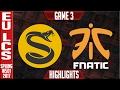 Lagu Fnatic vs Splyce Game 3 Highlights - EU LCS W4D3 Spring 2017 - FNC vs SPY G3