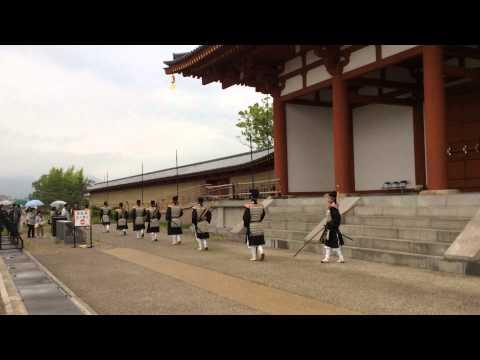 Nara, an ancient capital of Japan - Heijyo Empire Palace's South Gate 'Suzaku Mon' cl