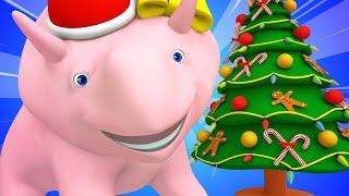 Boże Narodzenie: kierunki lewo i prawo z Dino i Diną - ucz się z Dino dinozaurem 👶 Bajki Edukacyjne