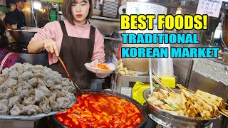 SPICY Tteokbokki! BEST Korean STREET FOOD at TRADITIONAL Markets in Seoul