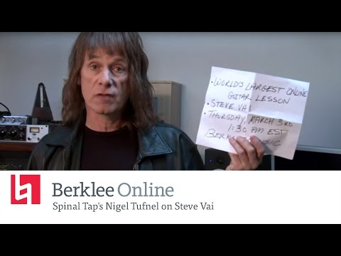 Spinal Tap's Nigel Tufnel on Steve Vai