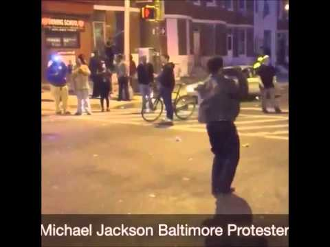 MICHAEL JACKSON Baltimore Protester Brings Calm to the Protest [VIDEOS]