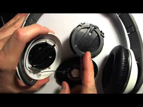 How To Take Apart Beats Studio HD Over The Ear Headphones - Repair Speaker Earpads Etc