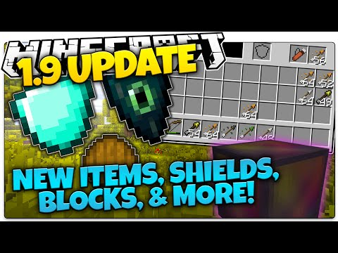 Minecraft 1.9 News | NEW SHIELDS, ARROWS, BLOCKS, & MORE! | Facts & Opinions! (Minecraft 1.9)