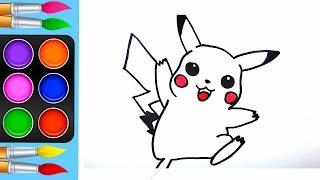 Vẽ và tô màu Pikachu Pokémon / Ami Channel