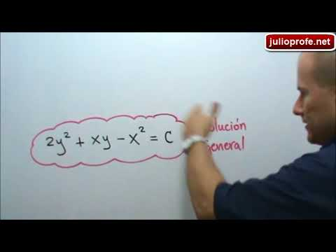 Solución de una Ecuación Diferencial Homogénea-Solution of a Homogeneous Differential Equation