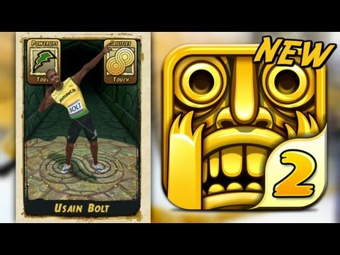 Temple Run 2 USAIN BOLT NEW CHARACTER Part 9 iPhone Gameplay Video