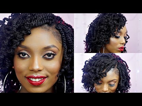 How To Crochet Kinky Twists Tutorial On Short Natural Hair