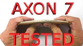 Axon 7 Durability Test - Scratch, Burn, Bend - ZTE