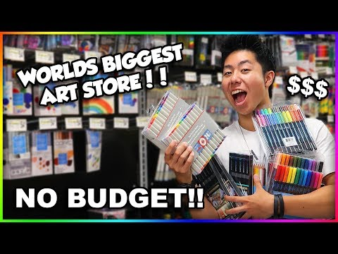 NO BUDGET AT WORLDS BIGGEST ART SUPPLY STORE SHOPPING SPREE + HUGE GIVEAWAY!!