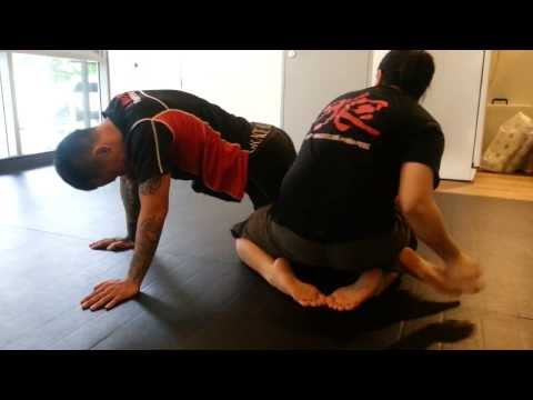 Back Ride to heel hook (catch wrestling) Image 1
