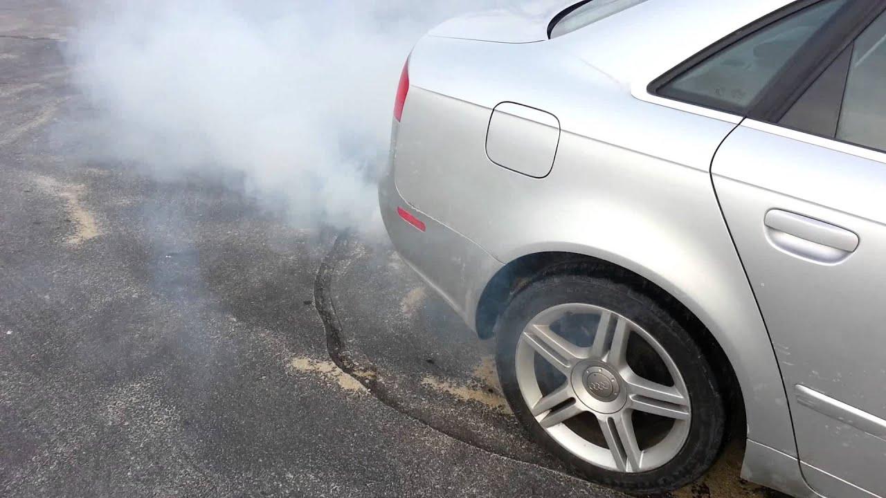 audi  exhaust smoke youtube