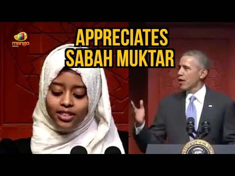 President Obama Appreciates Muslim Girl Sabah Muktar at Baltimore Mosque | Mango News