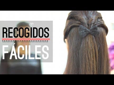 PEINADOS SEMIRECOGIDOS FÁCILES