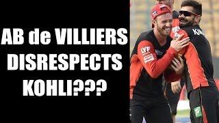 AB de Villiers says,