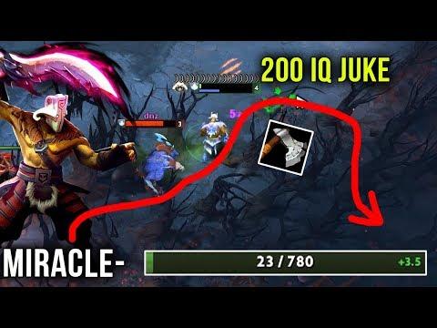 Miracle- Juggernaut vs Levkan Pudge with New Meta Omnislash + Mask of Madness - 200 IQ Juke - Dota 2
