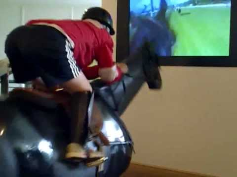 Riding a Jockey Simulator