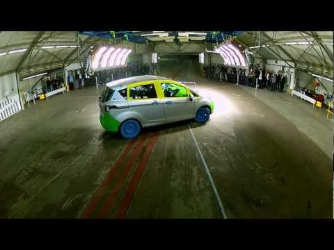 Ford B-MAX public crash test at the B-MAX Safety Forum