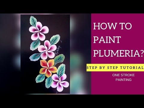 How to paint PLUMERIA flower | Simple and easy | step by step tutorial